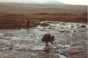 Im Sarek 1983: Kein Spaß bei Schneeregen.